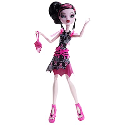 Monster High Frights, Camera, Action! Black Carpet Draculaura Doll: Toys & Games