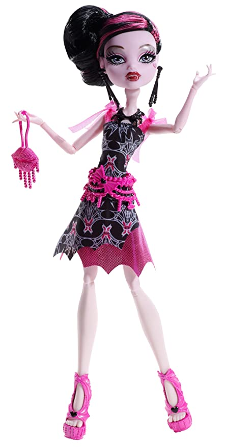 Monster High Frights Camera Action Black Carpet Draculaura Doll