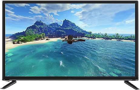 Kafuty Televisor Ultra-Delgado Pantalla Grande Televisor LCD HD 4K 32 Pulgadas 45w Resolución Física 1366 * 768 Compatible con Cable de Red + TV Inalámbrica WiFi(EU): Amazon.es: Electrónica
