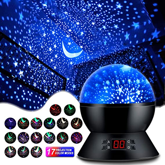 MOKOQI Star Projector Night Lights for Kids with Timer