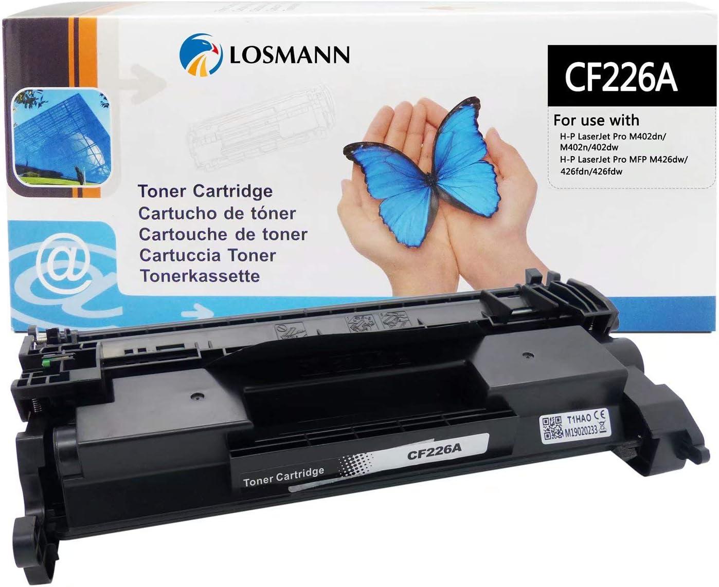 LOSMANN 1x Toner negro compatible con HP 26A CF226A para HP ...