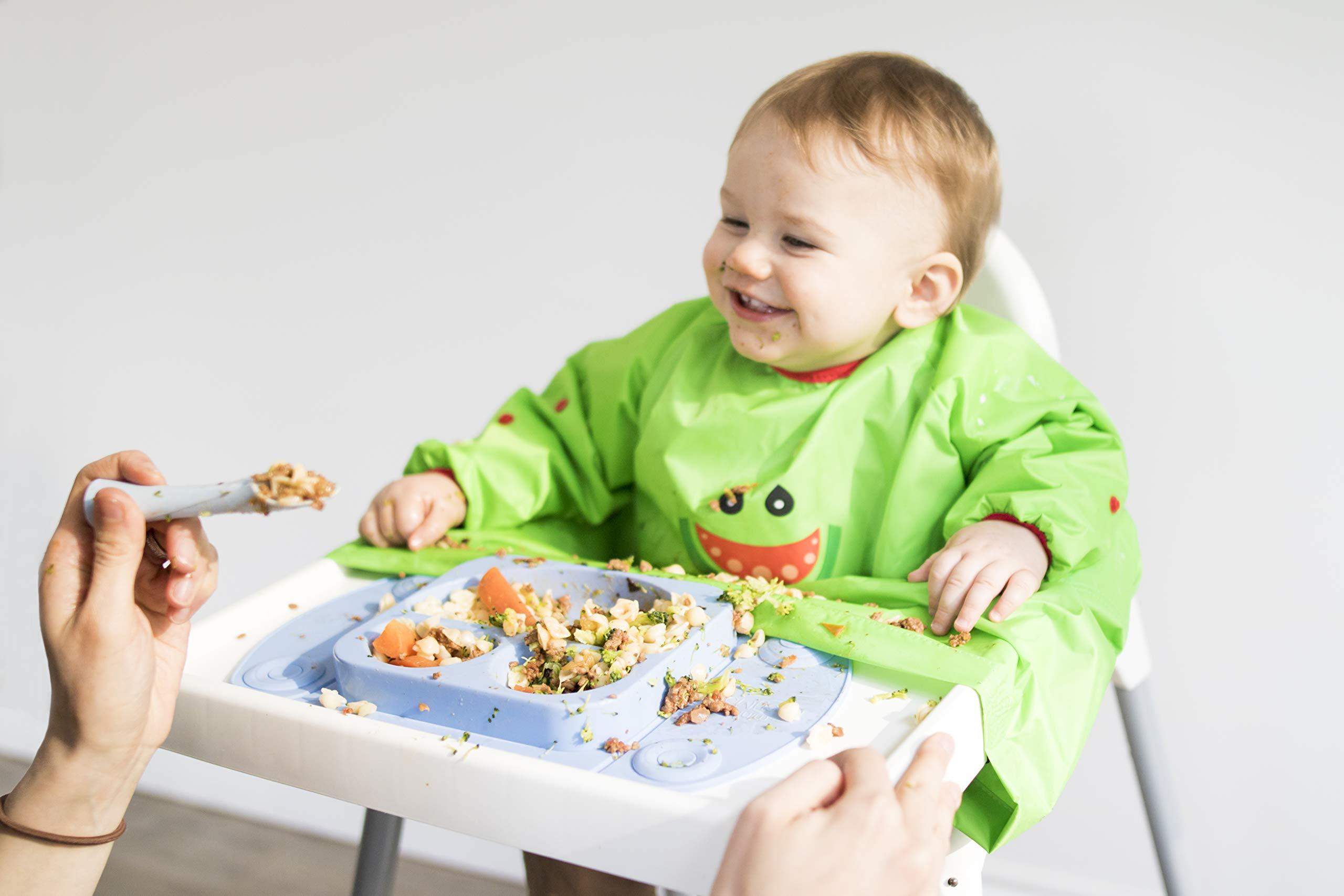 5 XL 4-5Years Bandana Bibs Cute Cartoon Baby Bibs Waterproof Infant Eating Children Drawing Long Sleeve Apron Baby Self Feeding Bib