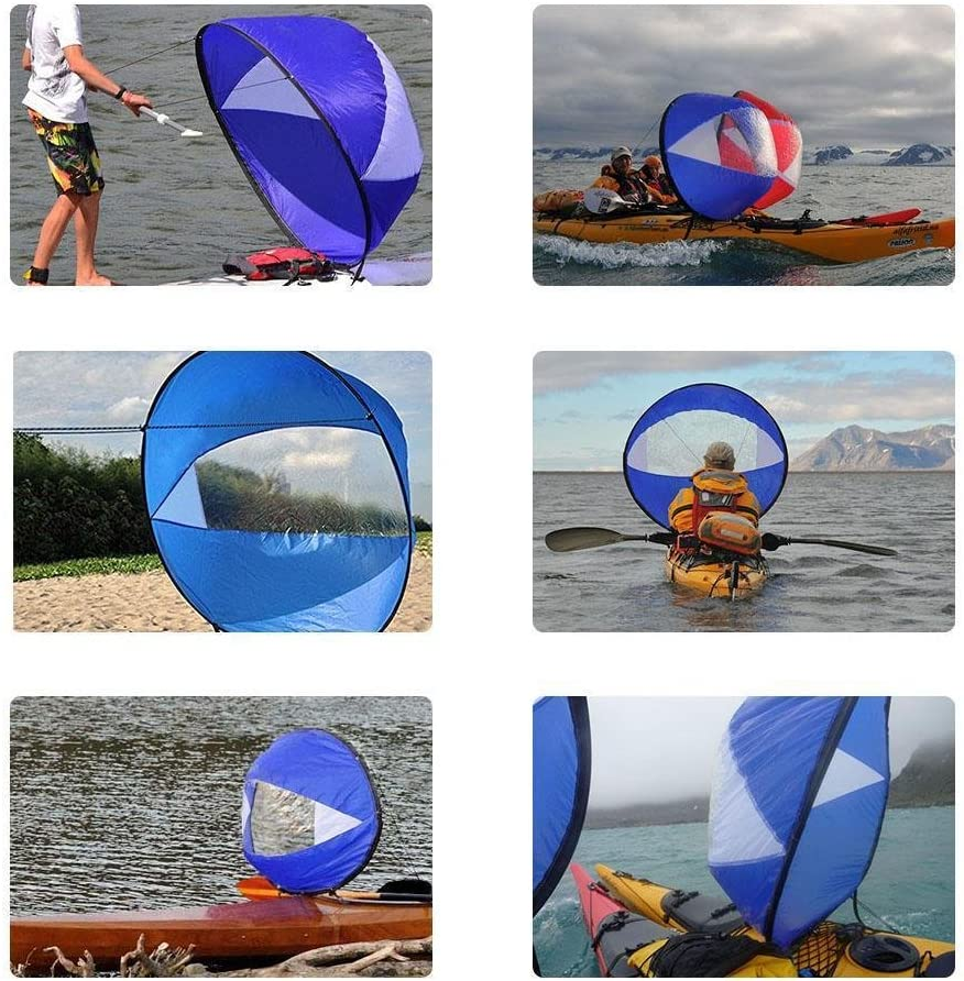 LoneRobe 42 inches Downwind Wind Sail Kit Kayak Wind Sail Kayak Paddle Board Accessories,Easy Setup /& Deploys Quickly,Compact /& Portable