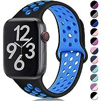 Hamile Kompatibel für Apple Watch Armband 38mm 40mm 42mm 44mm,Dual Farbe Weiches Silikon Atmungsaktiv Sportarmband für Apple Watch Series 5, Series 4 Series 3 Series 2 Series 1, 11 Farben