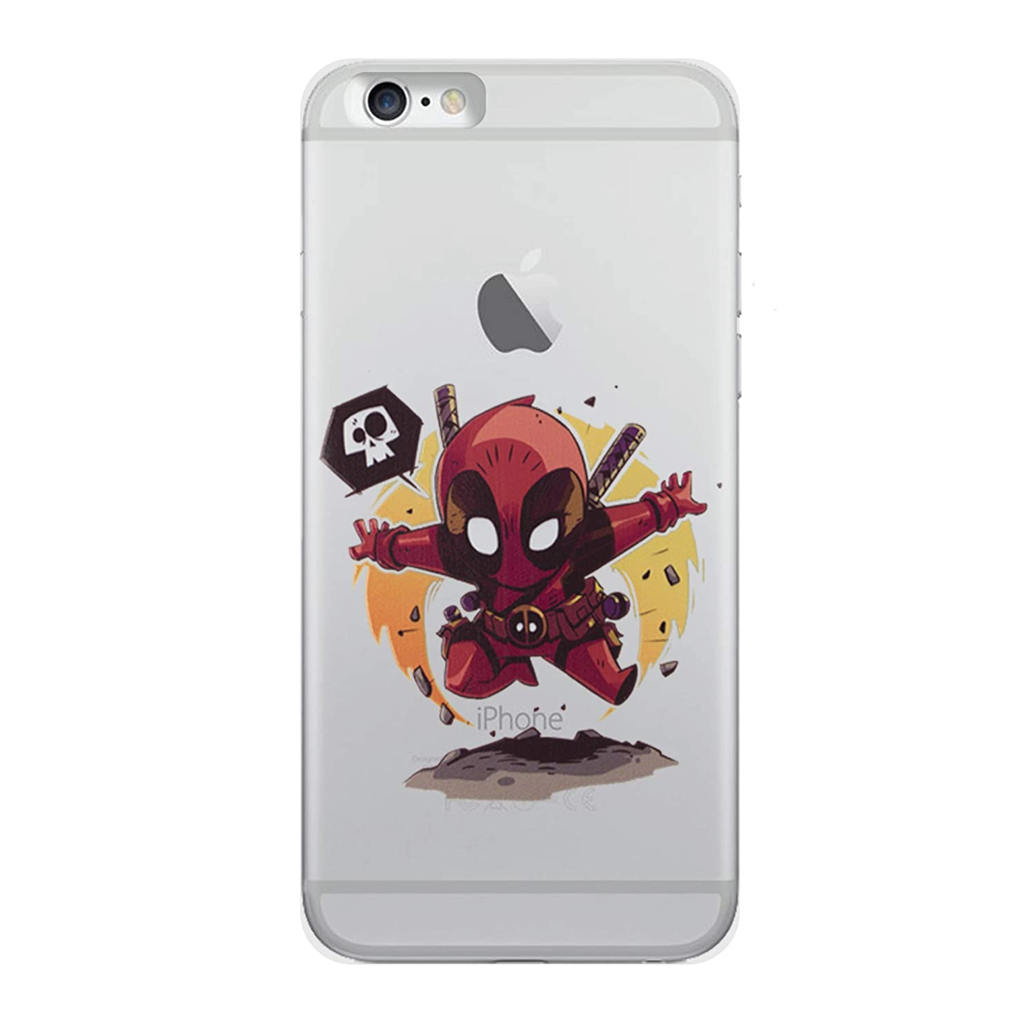 size 40 4cae5 896a2 iPhone 5/5s Deadpool Silicone Phone Case/Gel Cover for Apple iPhone 5s 5  SE/Screen Protector & Cloth/iCHOOSE / from The Grave