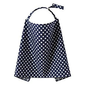 Fletion Breathable 100% Cotton Baby Infant Breastfeeding Nursing Cover Up Mum Breast Feeding Apron Scarf Privacy Shawl Strap Udder Covers Nursing Pads Poncho