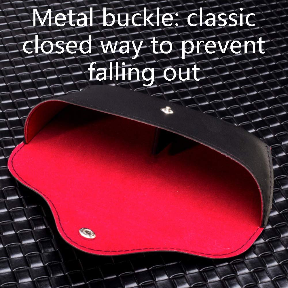 Household items Schwarze Spiegelkassette aus aus aus hochwertigem Tintenleder, Gitter Sonnenbrillenetui universal, AOYS 41a216