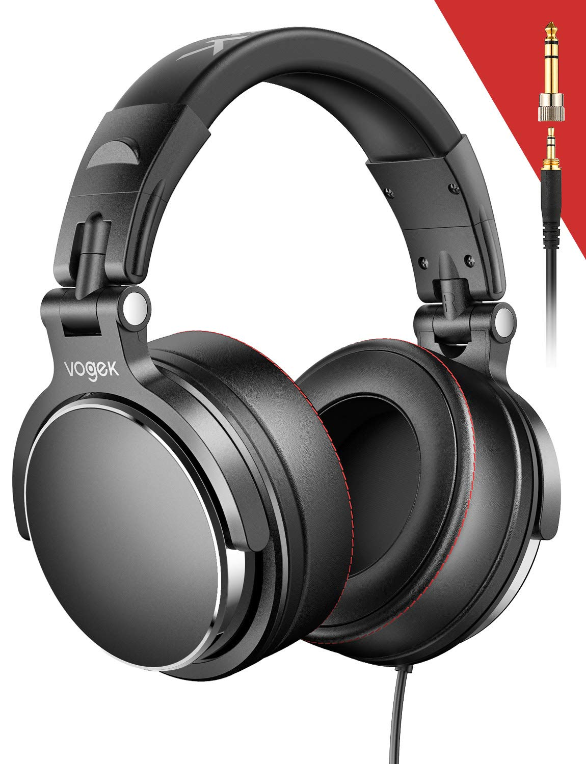 Over-Ear DJ Headphones, Prefessional Studio Monitor Mixing DJ Headset with Stereo Sound for Electric Drum Piano Guitar AMP, 50mm Neodymium Drivers by Sopownic