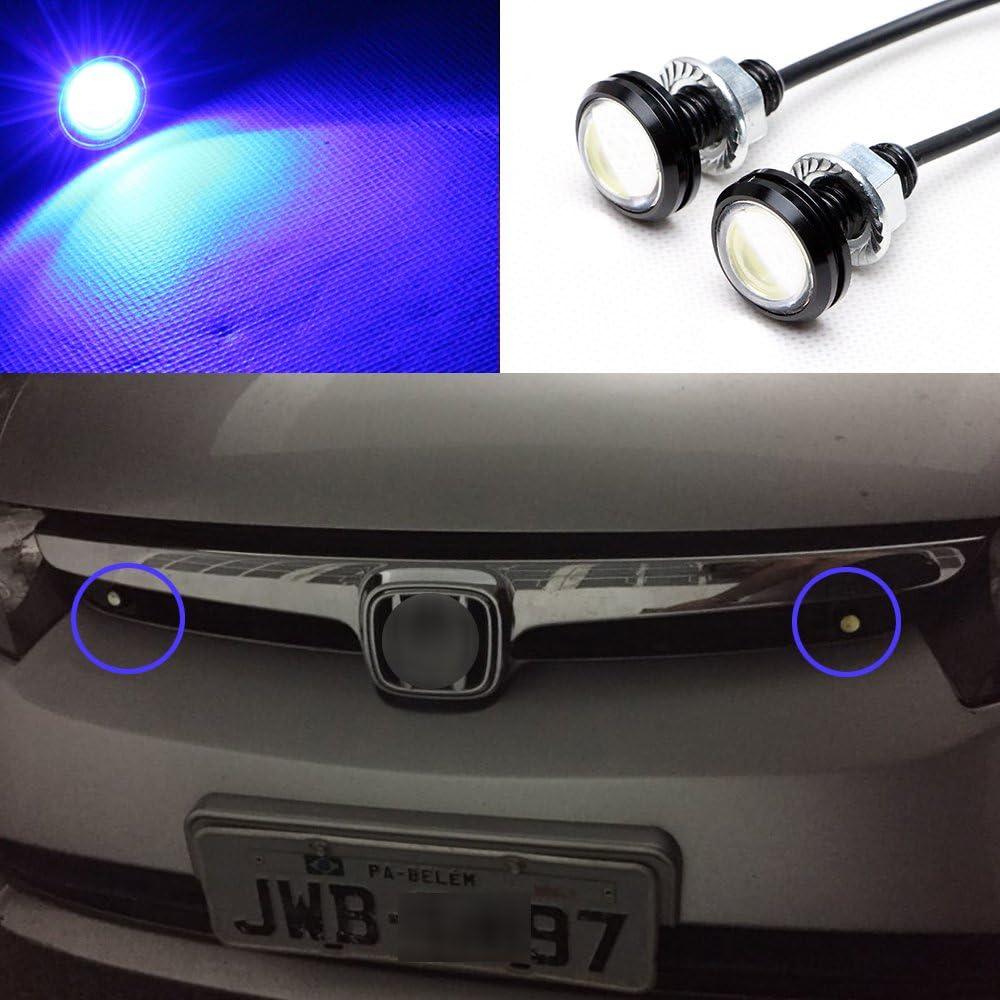 10PCS 15W Car Eagle Eye LED Fog Daytime Running DRL Backup Light Reverse Lamp s