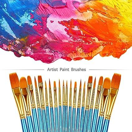 2Pcs Nylon Scrubbing Brush Painting Art Supplies Long-Handled Paintbrush I2