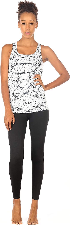 icyzone Camiseta de Fitness Deportiva de Tirantes para Mujer Cruzado-Cruzado 2 en 1 Chaleco Deportivo
