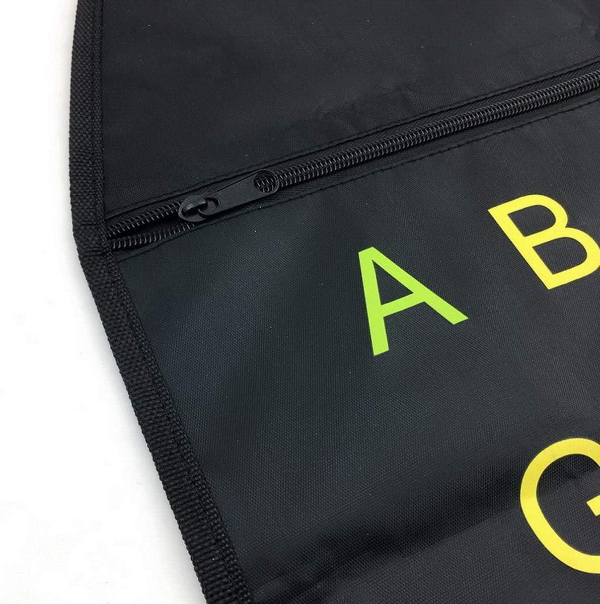 AOOPOO Car Seat Back Protector Multi-Function Car Seat Organiser Kick Mats Zipper Universal Backseat Hanging Bag Colorful English Alphabet