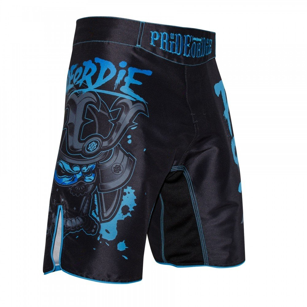Pride or Die Fight Shorts Ronin - MMA Fight Fitness Kampfsport Herren Shorts POD-006-MMAS-Reckless-B.White
