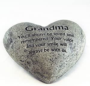 Gerson Heart Shaped Memory Stone for Grandma
