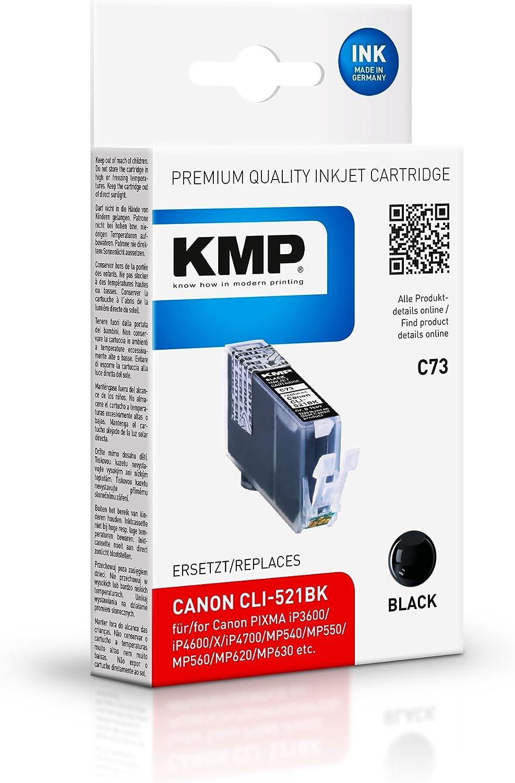 Cartucho de tinta KMP 9ml para Canon CLI-521 - Negro