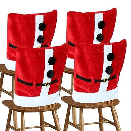 Amazon Com D Fantix Santa Claus Suit Christmas Chair Covers With