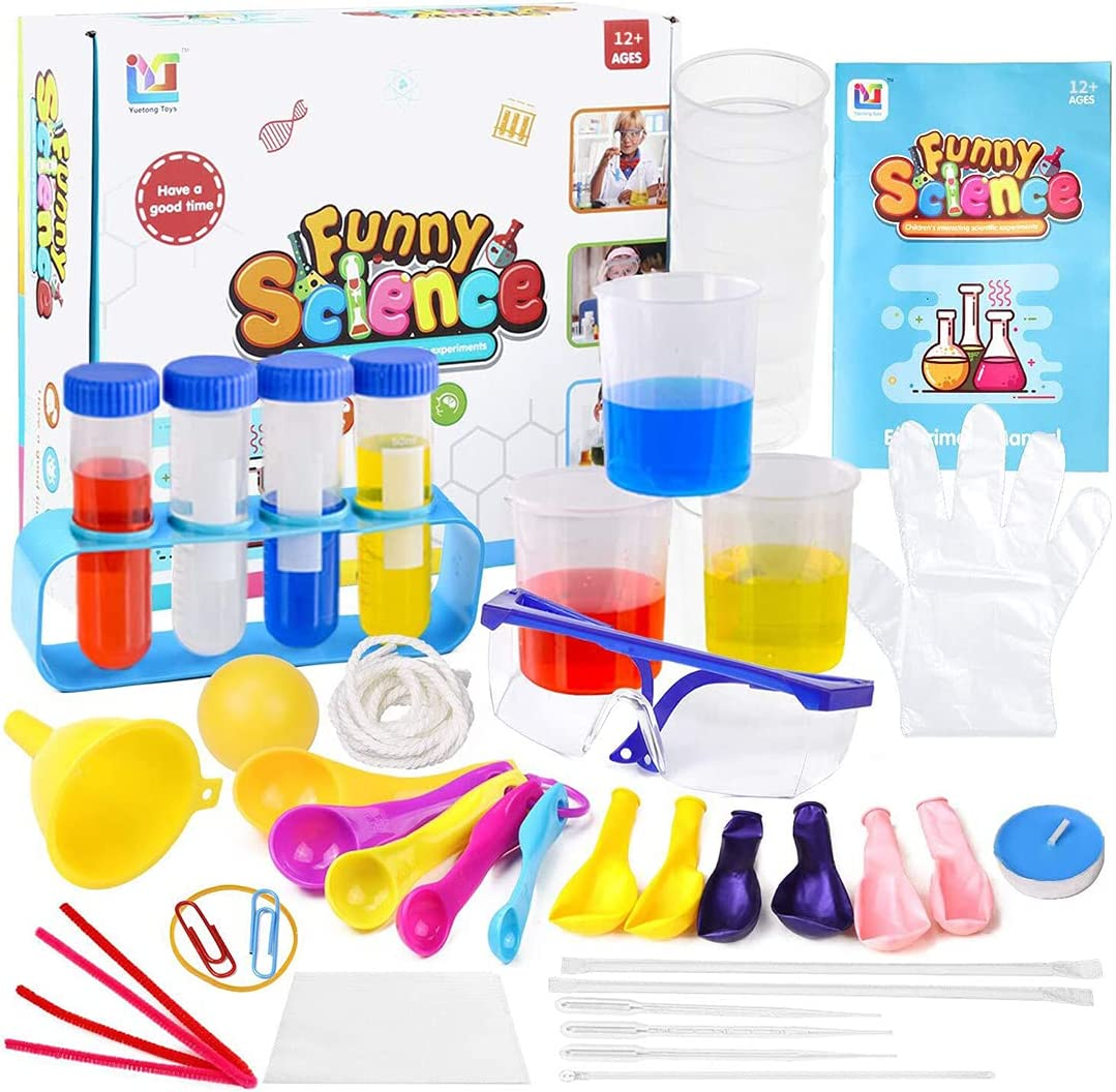 Science Kit with 90 Science Lab Experiments for Kids 47Pcs DIY STEM Chemistry Educational Toy Kits for Age 12+ Child, A Great Gift for Learning While Playing for Kid