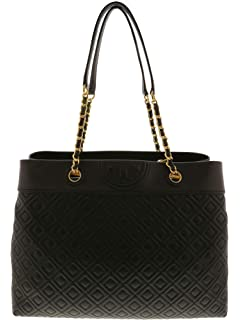 b5b676f138ba Tory Burch Women s Fleming Triple-Compartment Tote Leather Top-Handle Bag