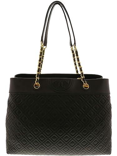 f05f8eadca6f Tory Burch Women s Tory Burch Fleming Triple Compartment Black Leather  Shoulder Bag Black  Handbags  Amazon.com
