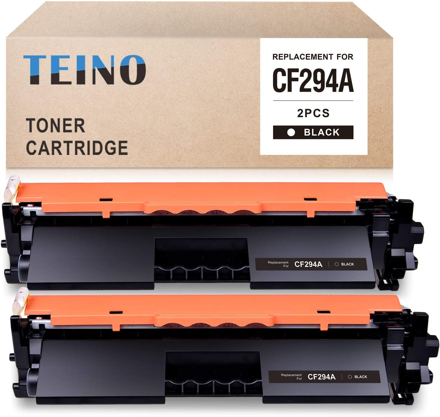 TEINO Compatible Toner Cartridge Replacement for HP 94A CF294A for Laserjet Pro M118dw MFP M148dw MFP M148fdw (Black, 2-Pack)