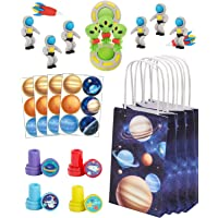 Decorlife 96 Pack Space Party Favors, Outer Space Birthday Party Kit for Kids - Including Party Goodie Bag, Stampers, 3D…