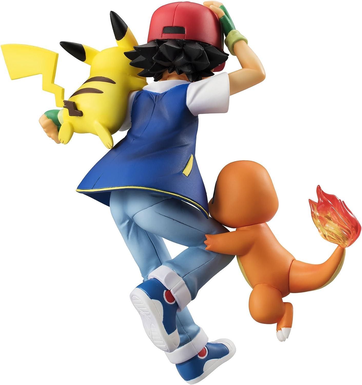 Ash Ketchum Pikachu Charmander GEM PVC Figure Megahouse Pokemon