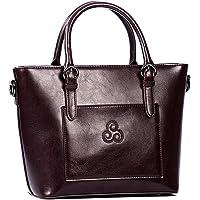 Aran Woollen Mills Traditional Irish Ladies 100% Pure Leather Bag Brown