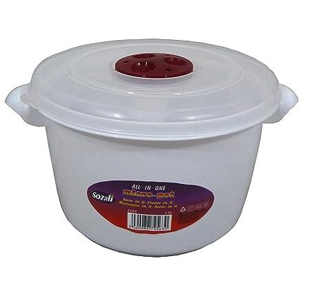 Alta calidad de 1,5 litros con tapa recipiente para microondas ...