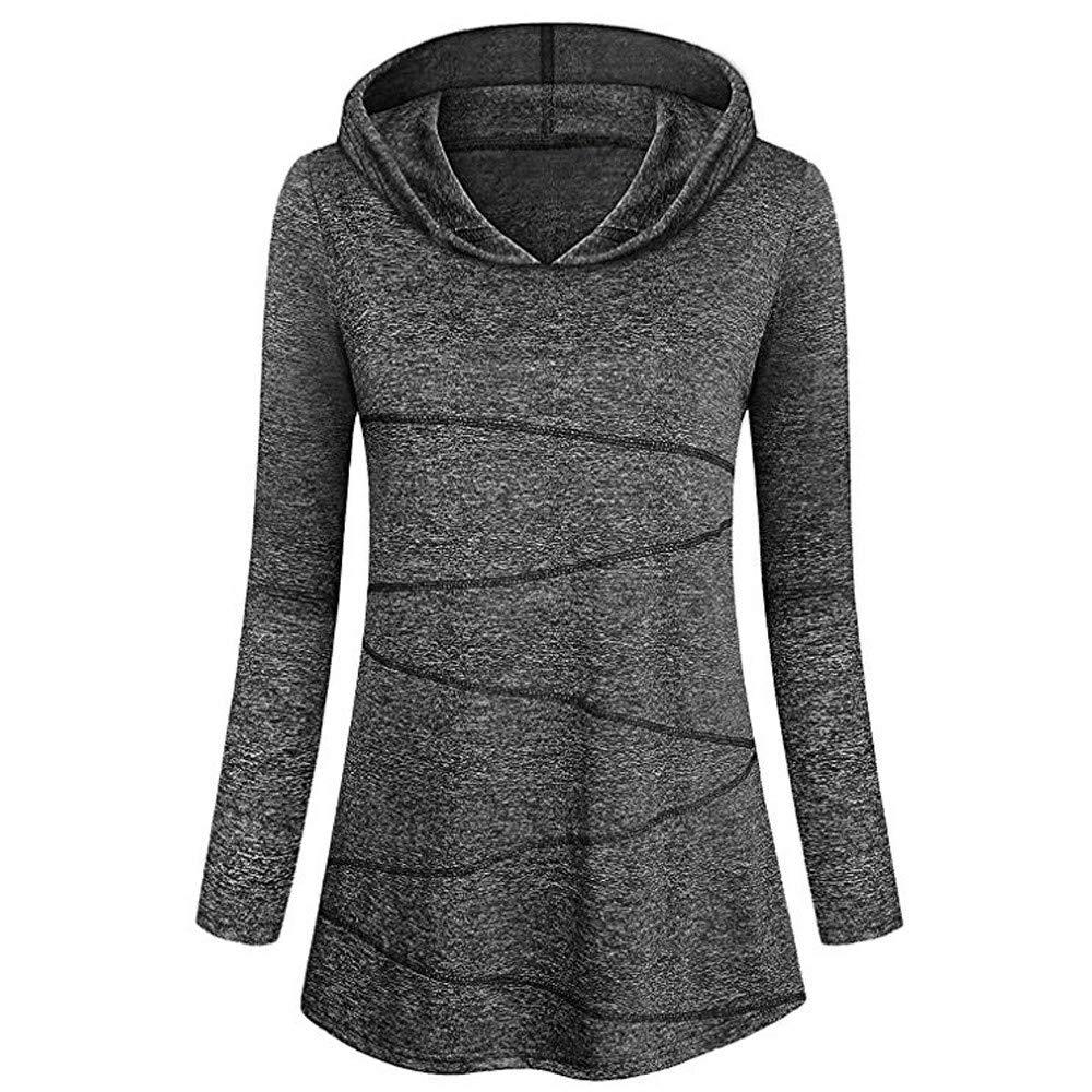 Hanomes Damen pullover, Damen Fahsion Bluse mit Langen Ärmeln Yoga Tops Activewear Lauftraining T-Shirt