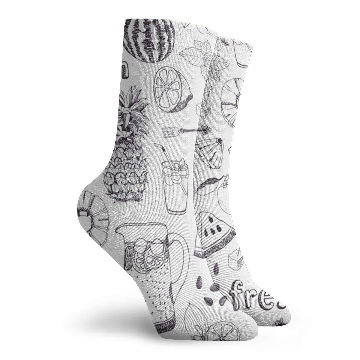 Summer-freshness Unisex Funny Casual Crew Socks Athletic Socks For Boys Girls Kids Teenagers