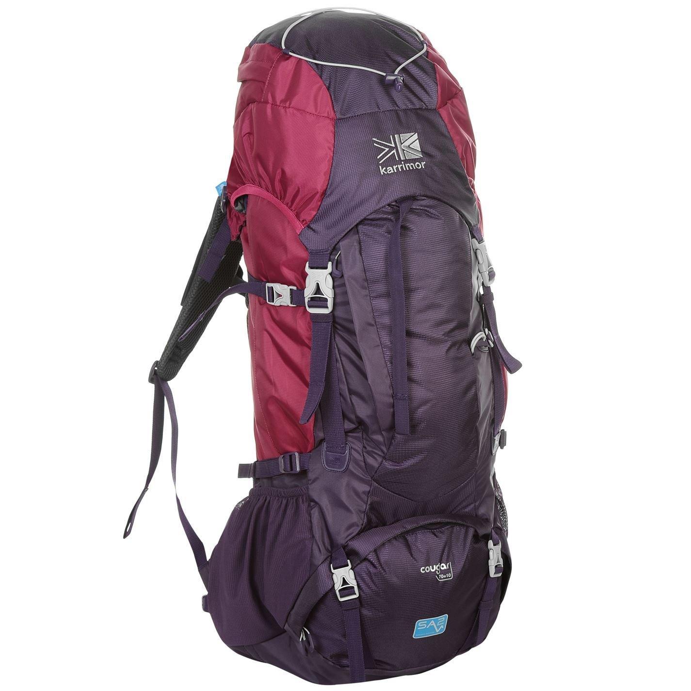 Karrimor Rucksacks 32L//65L//70L Backpack Daypack Bags Ridge Leopard Cougar Jaguar H:75 x W:30 x D:20 cm Cougar 70+10 Litre Purple