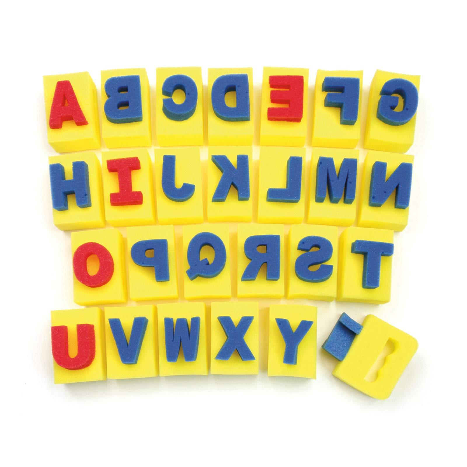 Chenille Kraft Alphabet Handle Sponge Assortment by Chenille Kraft
