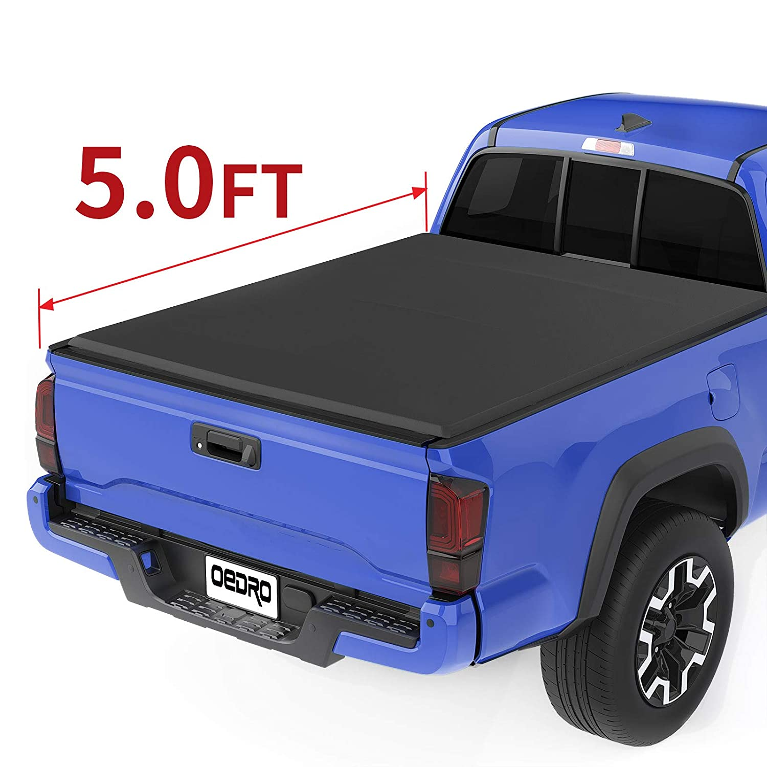 Tacoma Rv Show 2020.Oedro Tri Fold Truck Bed Tonneau Cover Compatible With 2016 2020 Toyota Tacoma With 5 Feet Bed Fleetside