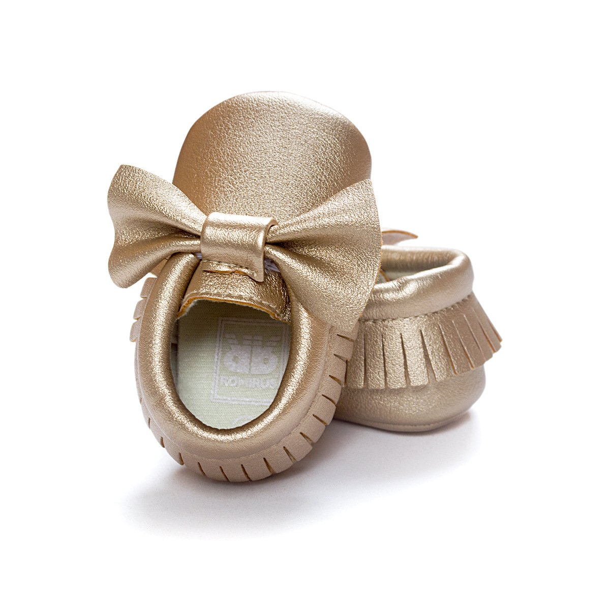 C&H Baby boy girl soft cute tassel bow tassels baby cot shoes baby shoes (11cm(0-6months), 5107 golden) by C&H (Image #4)