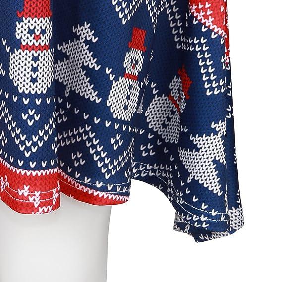 05bb96df4 NiSeng Vestidos cortos para fiesta Xmas Impreso Vestido de manga larga  Vestido de navidad Mujer Style 3 Talla única  Amazon.es  Ropa y accesorios