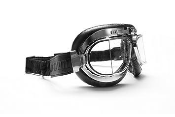 BERTONI Gafas de Moto Lentes Antivaho y Antichoque - Perfil de Acero Cromado - Italy AF193CR