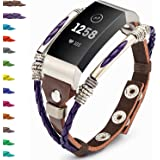 Compatible with Fitbit Charge 4/ Charge 3/SE Bands for Women, Marval.P Handmade Leather Band, Replacement Unique…