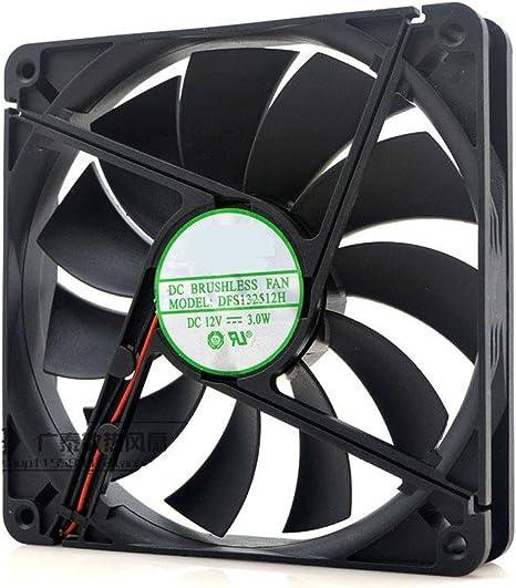 DFS132512H Ventilador de refrigeración silencioso de chasis 12 V 3 ...