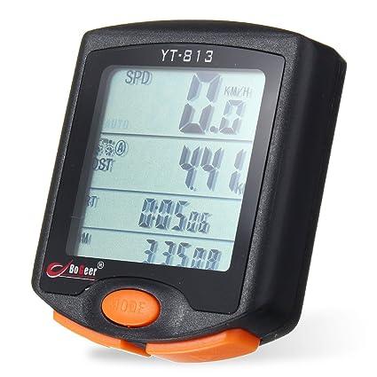 TENGGO Cuentakilómetros Velocímetro Bicicleta Impermeable Cronómetro Bici Bicicleta Ciclismo Computadora LCD