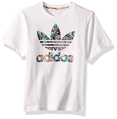 e2444ae8ebe adidas Originals Girls' Toddler Zooanimal Print Tee, White/Multi 4T