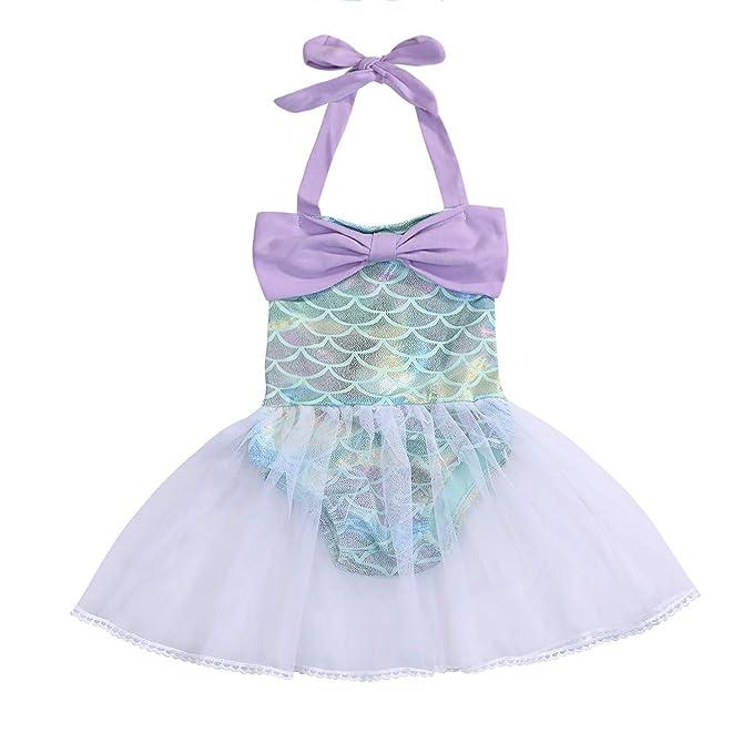 Amazon.com: Traje de baño de sirena para niñas y bebés ...