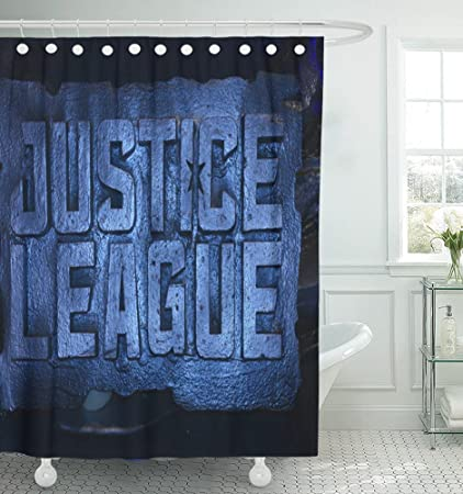Emvency 72quotx72quot Shower Curtain Waterproof Bangkok Thailand November 11 Standee Of Justice League