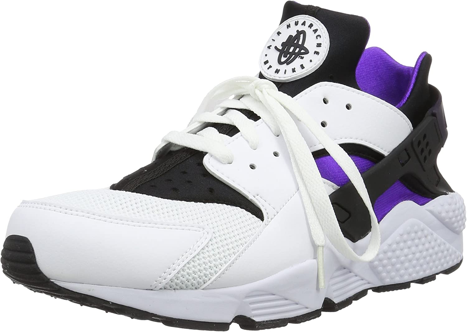 NIKE Men s Air Huarache Casual Sneakers Shoes White Grape 318429-105 9.5