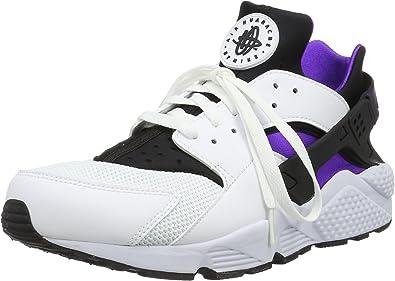 Nike Air Huarache Men Lifestyle Sneakers New White Hyper Grape - 10