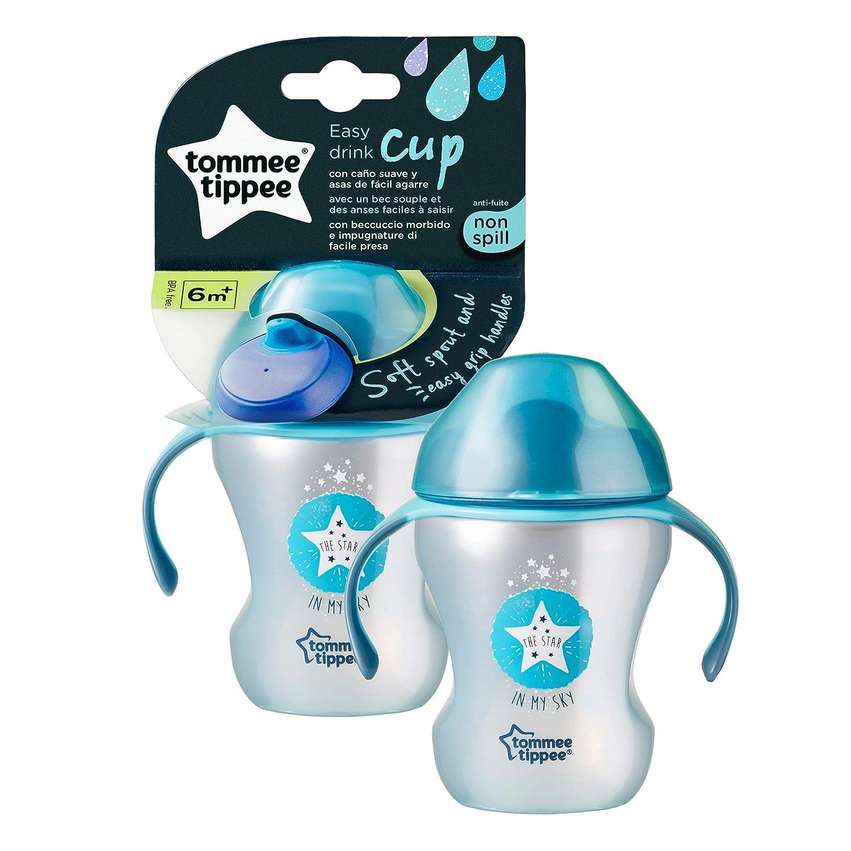 auslaufsicher Tommee Tippee Trinklernbecher Sippee Cup mit Griffen und weichem Ausguss 4+ Monate Blau