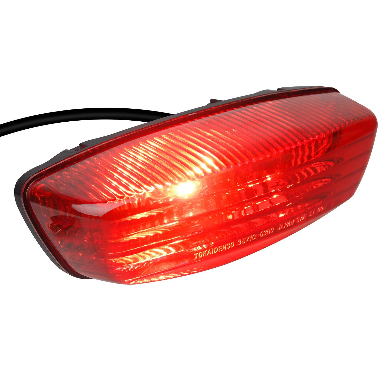 2005-2008 LT-Z400 2004-2010 LT-Z250 NTHREEAUTO 12V RED ATV Tail Light Motorcycle Taillights Brake Lights Compatible with 35710-03G30 2005-2014 Suzuki LT-F250