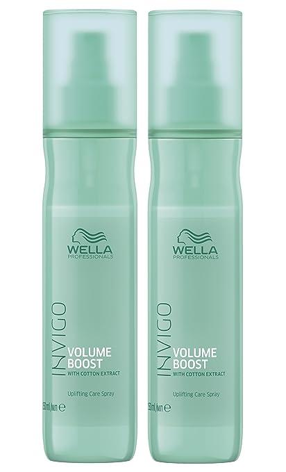 2 Volume Boost Volumen Cuidado Spray invigo WELLA Professionals con extracto de algodón por 150 ml