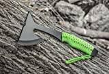 "SE 8-3/4"" Hunting Axe with Spike, Neon Green"