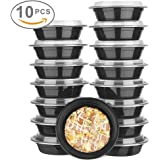 Glotoch Bento Box, 24 Ounce Wholesale 1 Compartment Food Storage Containers for Meal Prep-Microwave, Freezer & Dishwasher Safe - Eco Friendly Safe Food Container, Pack of 10