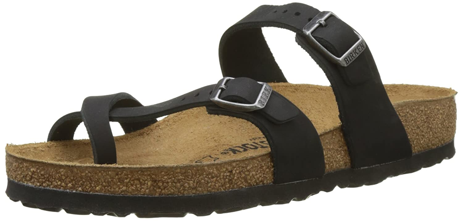 90414a035326 Birkenstock Women s Mayari Adjustable Toe Loop Cork Footbed Sandal Black 35  M EU  Amazon.ca  Shoes   Handbags